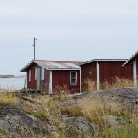 Archipelago with boat house