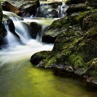 waterfall, creek, Ireland, Galeway