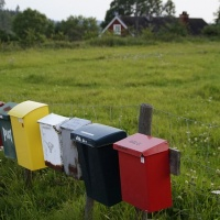 Colourful letter boxes