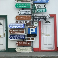 Road signs, town signs, place name signs, Ireland