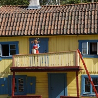 Pippi Longstocking and her house Villa Villekulla